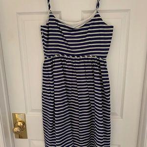 J. Crew Dresses - J.Crew midi blue and white striped dress